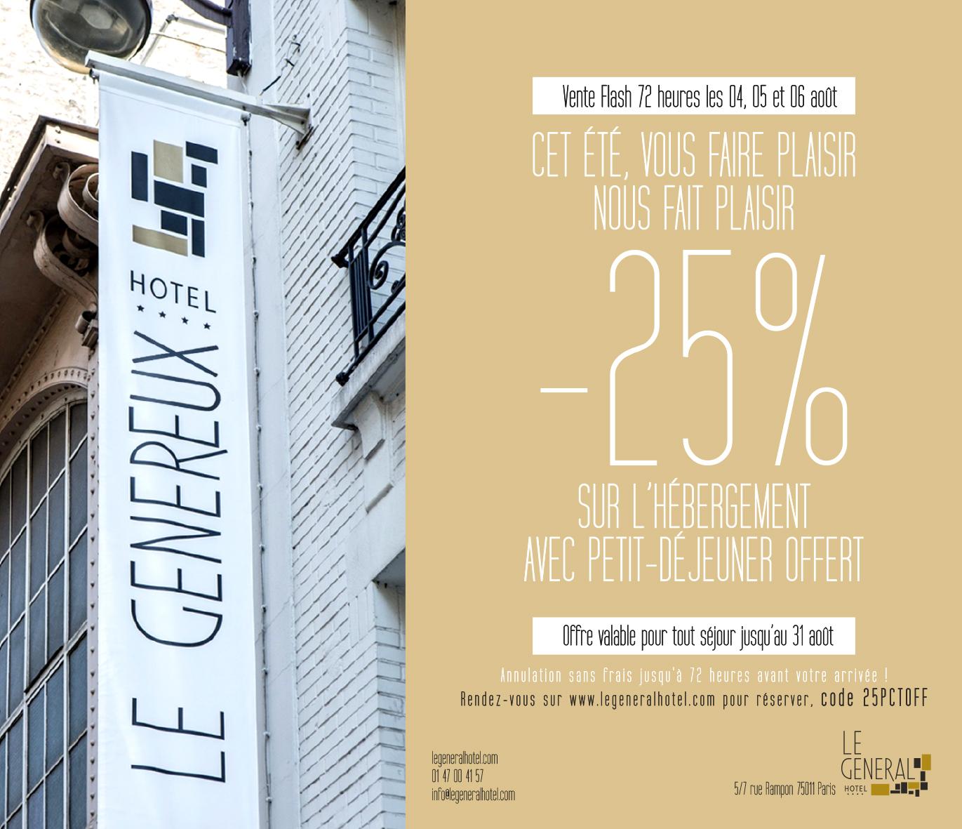 Vente Flash Le General Hotel